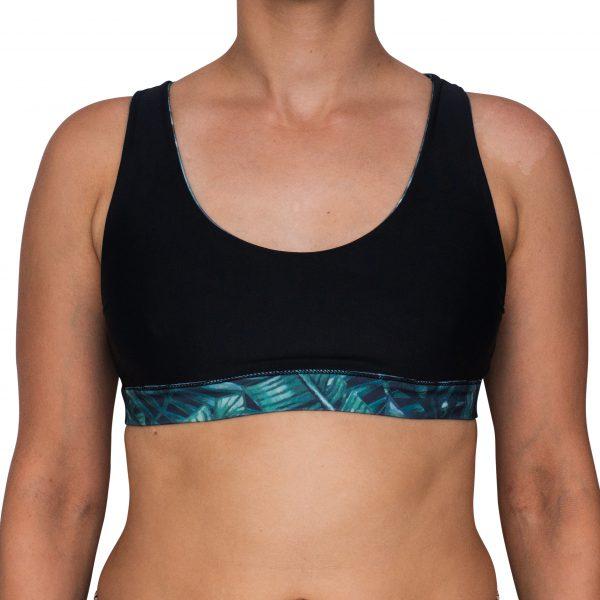 Zealous Clothing - Cowabunga Surf Bikini Top urban jungle_black