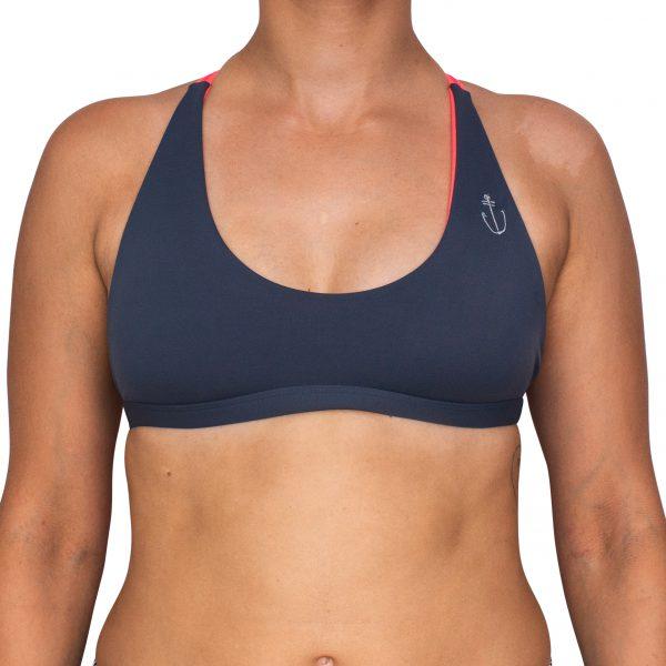 Zealous Clothing - Bikini Top anthrazite_vorne