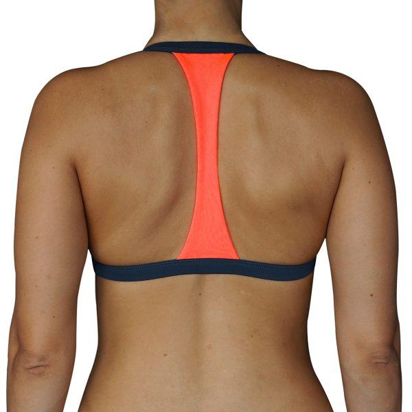 Zealous Clothing - Signature Surf Bikini Top anthrazite hinten