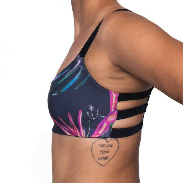 Zealous Clothing - Zimzala Surf Bikini Top pink paradise suite