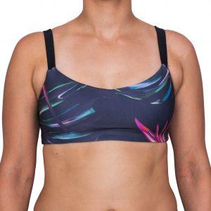 Zealous Clothing - Zimzala Surf Bikini Top pink paradise vorne