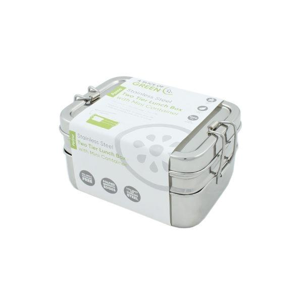 Edelstahl Lunchbox 3in1