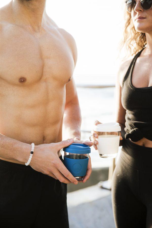 Sol Cup Kaffee-To-Go Becher aus Glas