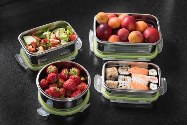 Brotzeit Lunchbox klick Edelstahl gefüllt