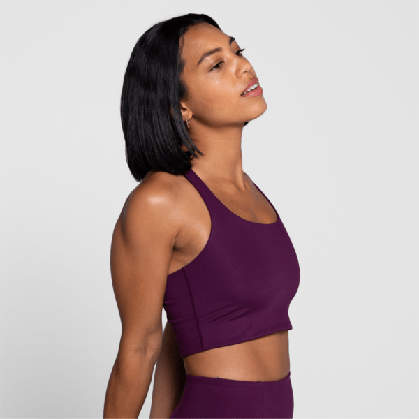 Girlfriend Collective Paloma Sports Bra plum