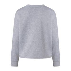 Cropped Sweater grey melange